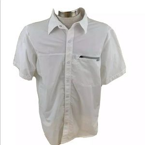 Columbia Mens Button Front Shirt Short Sleeve